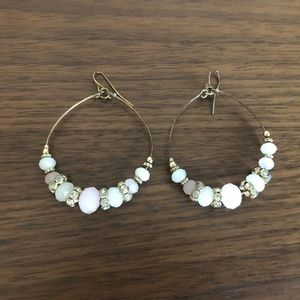 Gold and light pink earrings
